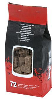 Allume-feu 72 tablettes pour barbecue et cheminée