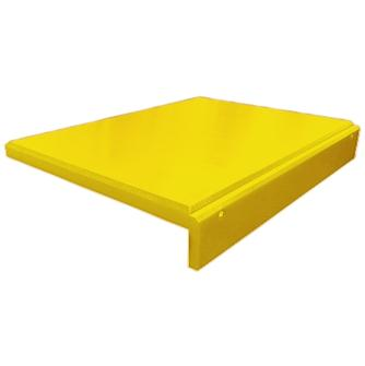 Planche à découper à rebord 60x40 cm en polyéthylène jaune
