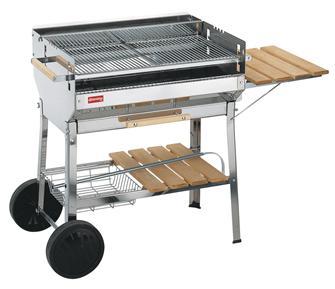 Barbecue inox grande grille 74x41 cm fabriqué en Europe