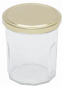 Pots de confiture 370 g. par 16 livrés avec capsules