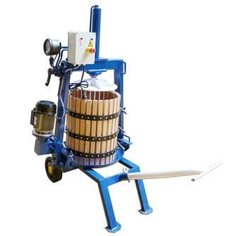 Pressoir hydraulique électrique automatique 128 litres 50 cm