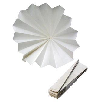 Filtre en papier plissé