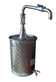 Bidon à huile décanteur avec robinet haut de soutirage de 75 litres
