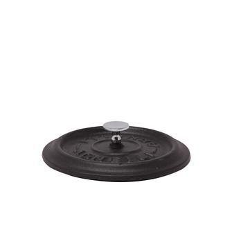 Couvercle rond noir mat en fonte