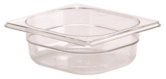 Bac gastro sans BPA GN 1/6 h. 6,5 cm en copolyester