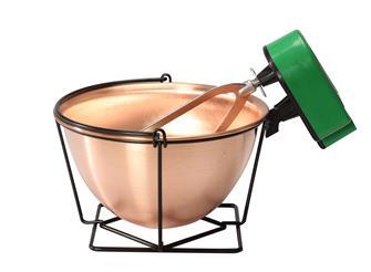 Chaudron en cuivre 4 litres avec mélangeur