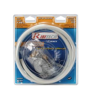 Kit tuyau à gaz à collier et détendeur butane