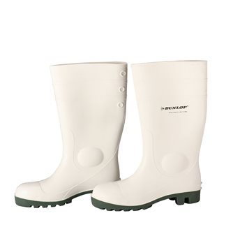 Bottes blanches de sécurité taille 42 Dunlop pour labo agro-alimentaire
