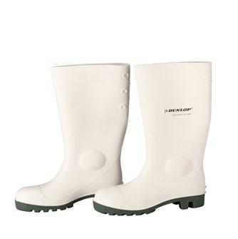 Bottes blanches de sécurité taille 45 Dunlop pour labo agro-alimentaire
