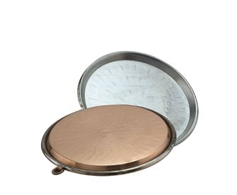 Plat à socca en cuivre 34 cm