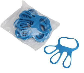 Fixe gants côte de maille en polyuréthane par 100