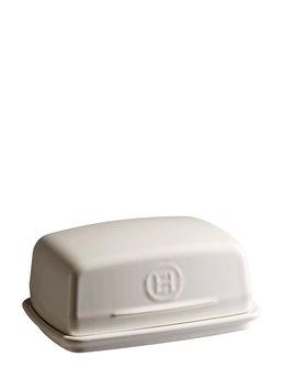 Beurrier en céramique blanc Argile Emile Henry