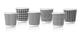 Lot de 6 tasses à café expresso Pop gris