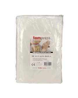 Sacs sous vide alimentaires gaufrés Tom Press 20x25 cm par 100