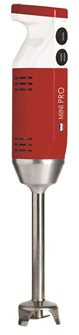 Mixeur plongeant Mini Pro rouge 220 W 13 000 tours 4 embouts fabriqué en France