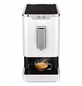 Machine à café expresso broyeur à grains blanche