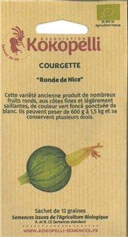 Graines de courgettes de Nice à fruit rond
