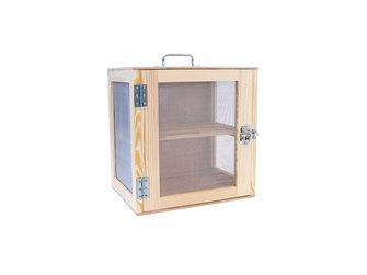 Garde manger bois naturel 40x40x30 cm
