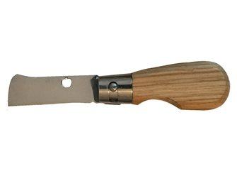 Couteau greffoir pliant manche en chêne
