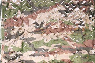 Filet de camouflage ou d´ombrage imprimé camouflage 5 x 4 m