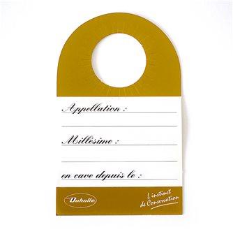 Etiquettes de cave pour goulot de bouteille jaune cartonnée par 20